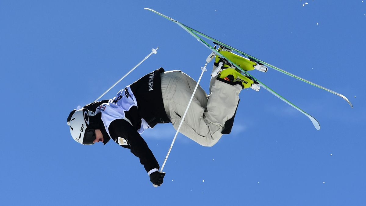 Brodie Summers of Australia competes in the Men's Moguls qualification on day one of the FIS Freestyle Ski & Snowboard World Championships