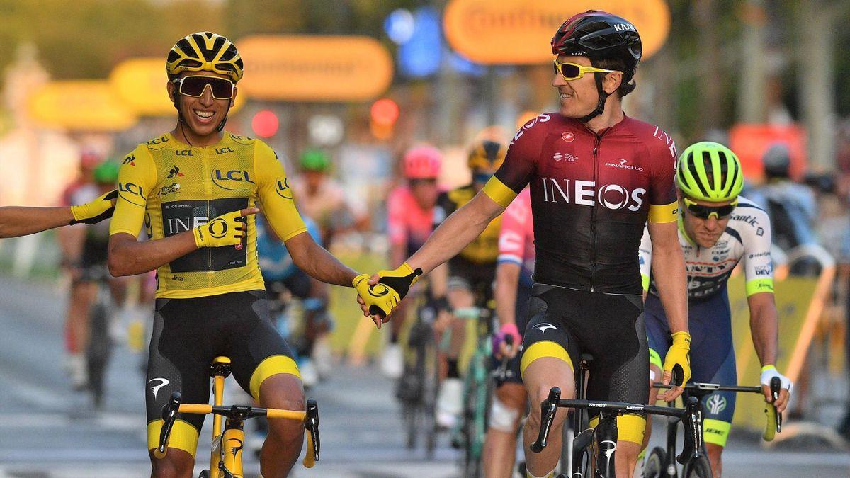 Egan Bernal (links) gewann 2019 die Tour de France