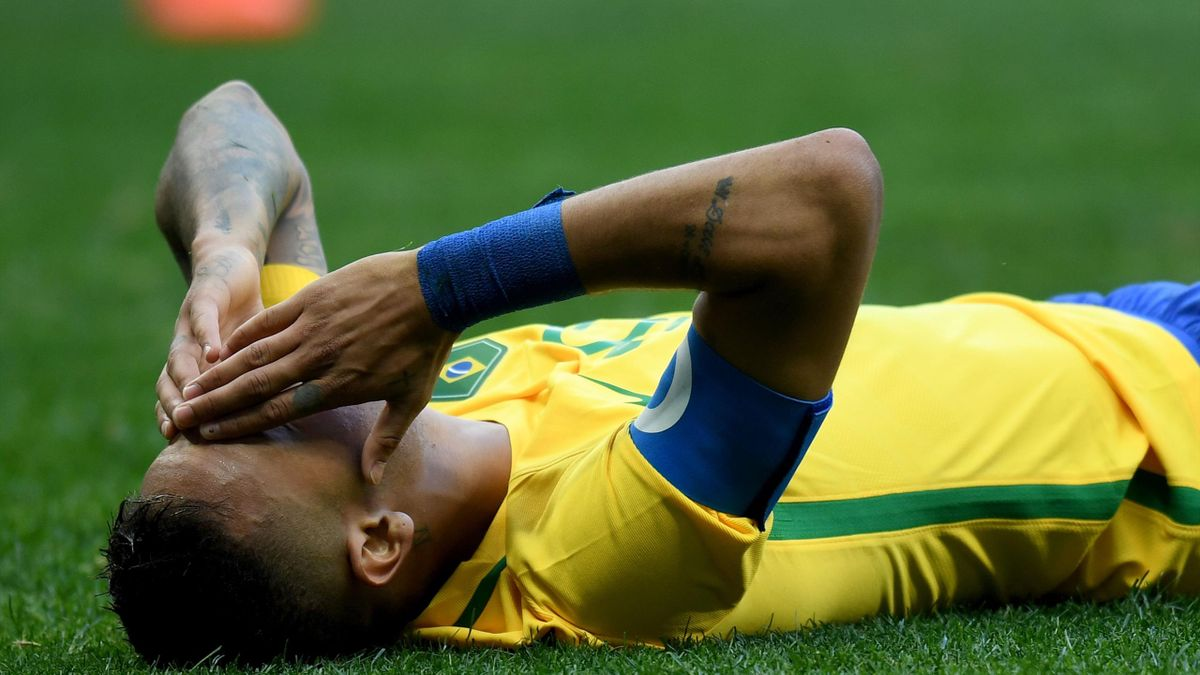 Brazil player Neymar gestures on the field during the Rio 2016 Olympic Games First Round Group A men's football match Brazil vs South Africa, at the Mane Garrincha Stadium in Brasilia on August 4, 2016.