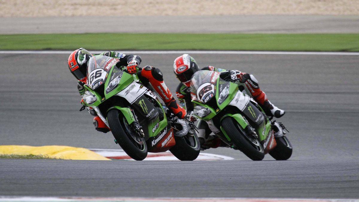 Tomy Sykes und Jonatha Rea liegen in Jerez eing beisammen