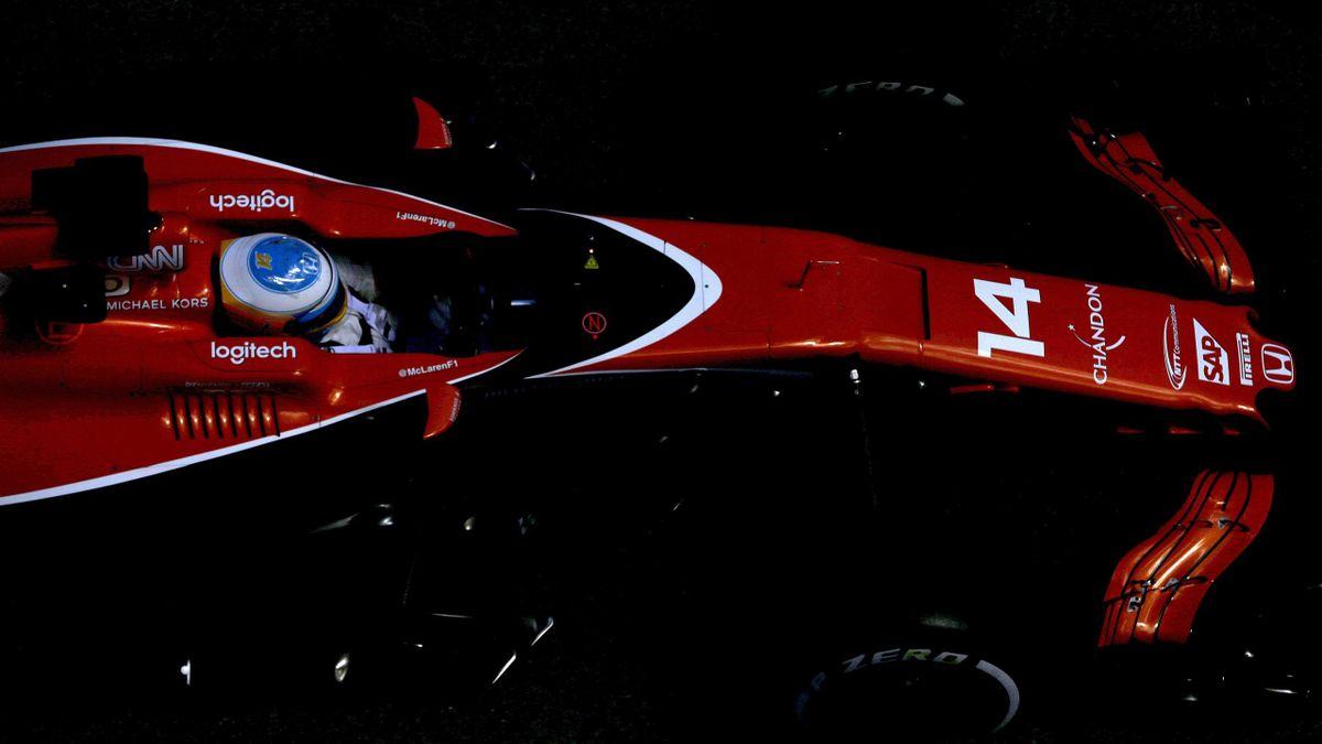 Fernando Alonso (McLaren-Honda), en el Gran Premio de España 2017