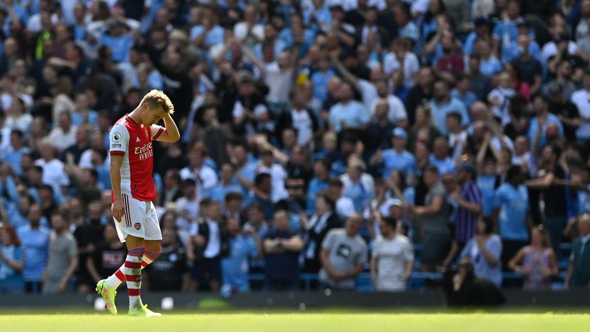 Für Martin Ödegaard und den FC Arsenal sieht es düster aus