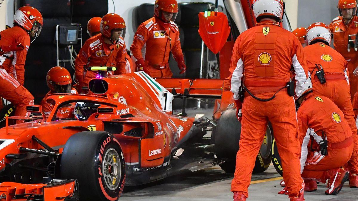 Kimi Räikkönen im Ferrari