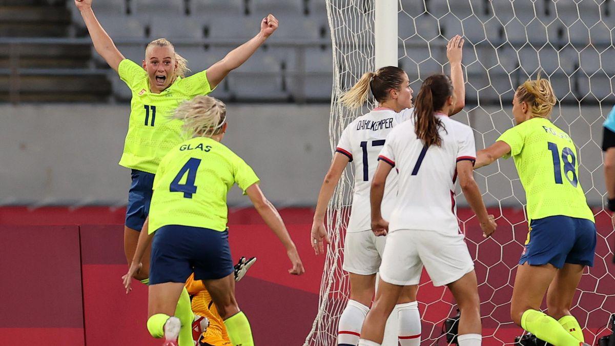 Tokyo 2020 Football: Stina Blackstenius doubles Sweden's advantage against USA