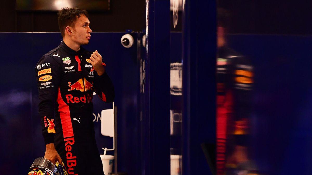 Alexander Albon (Red Bull) lors du Grand Prix d'Abou Dabi, le 13 décembre 2020