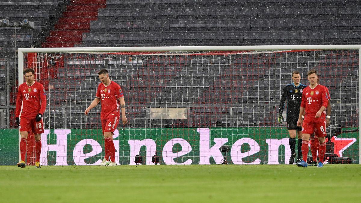 Der FC Bayern im Spiel gegen Paris St. Germain