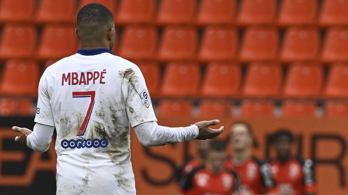 Kylian Mbappé et le PSG ont été battus à Lorient