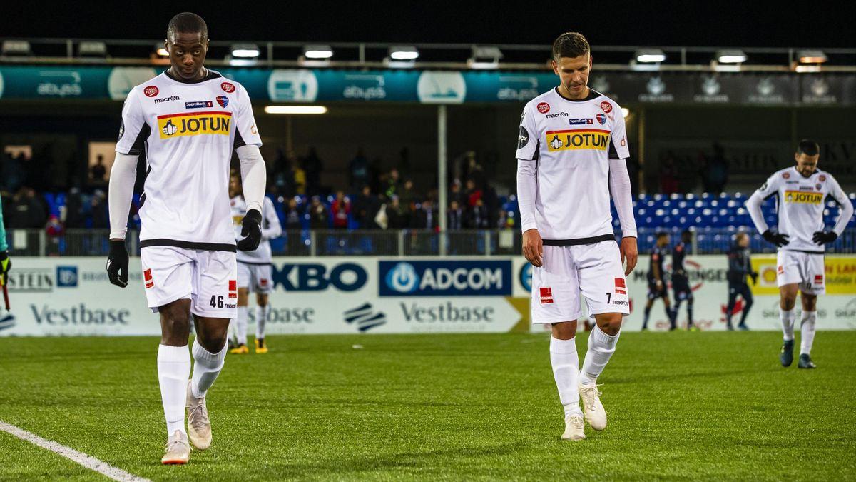 George Gibson og Emil Palsson er ferdige i Sandefjord. Heller ikke Stefan Mladenovic får tilbud om ny kontrakt. Bildet er fra KBK - Sandefjord (3-2) i 2018.