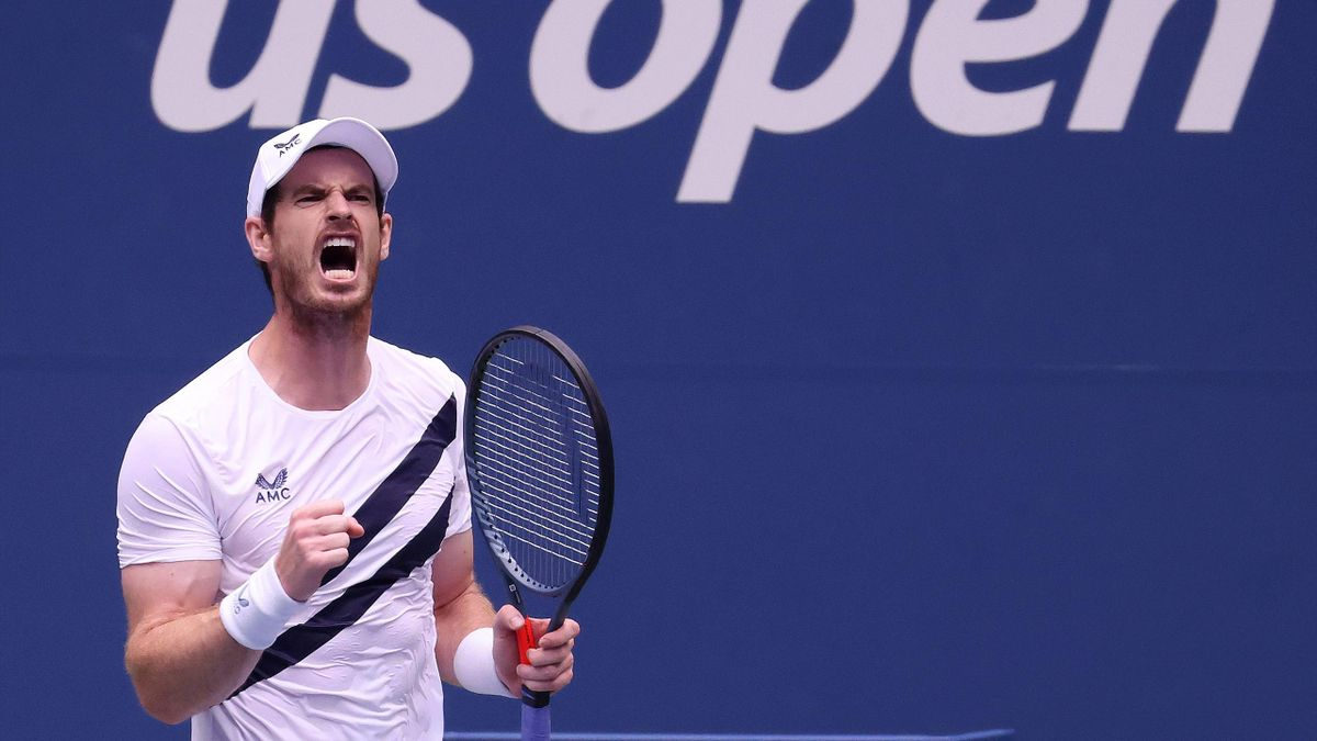 Andy Murray of Great Britain reacts during his Men's Singles first round match against Yoshihito Nishioka of Japan on Day Two of the 2020 US Open at the USTA Billie Jean King National Tennis Center on September 1, 2020 in the Queens borough of New York Ci
