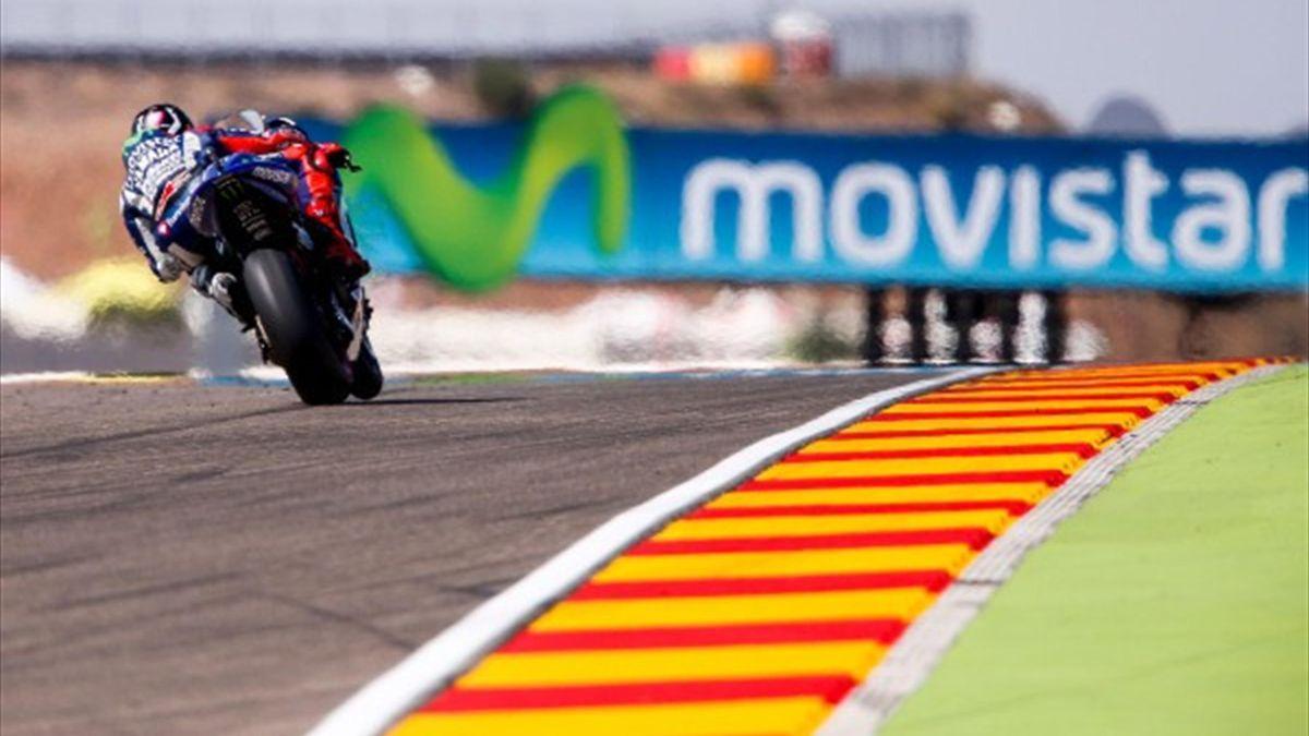 Jorge Lorenzo (Yamaha) en el Gran Premio de Aragón de MotoGP 2015