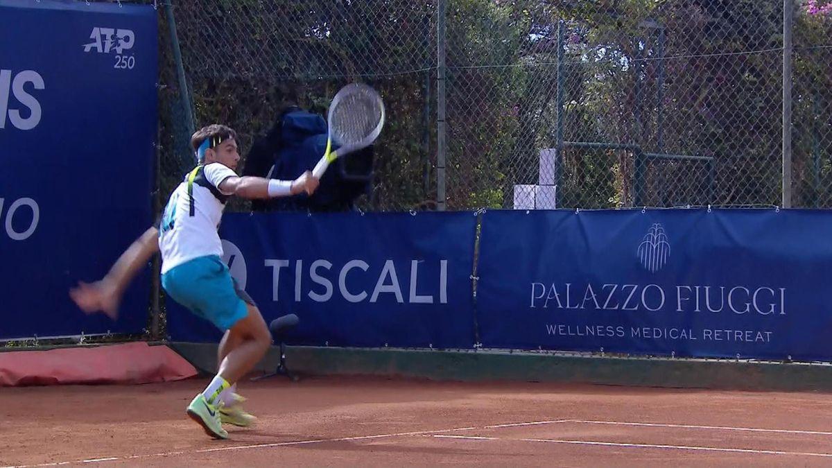 ATP Sardinia: Lorenzo Musetti's nice backhand against Andrea Pellegrino