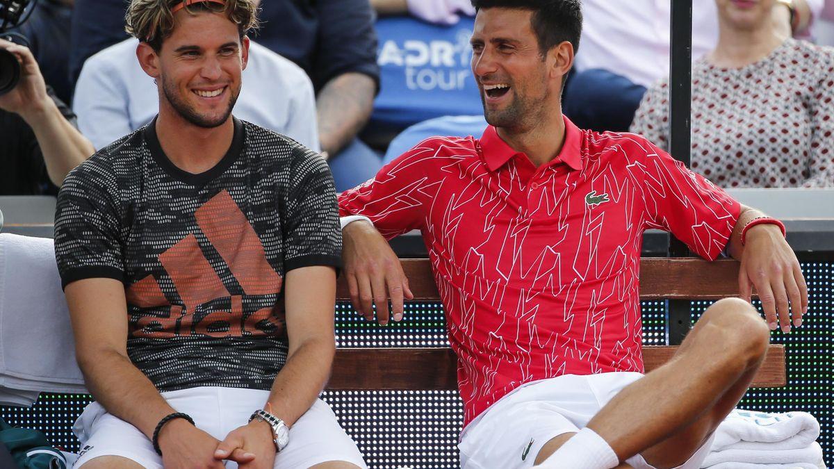 Dominic Thiem & Novak Djokovic