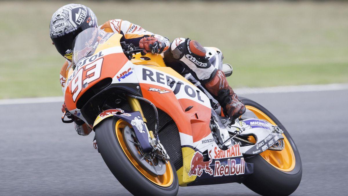 Repsol Honda's Spanish rider Marc Marquez in pre-season testing action