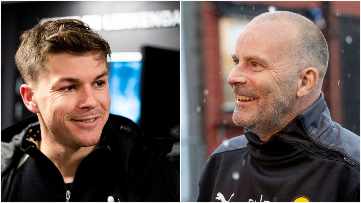 Pål André Helland og LSK-trener Geir Bakke.
