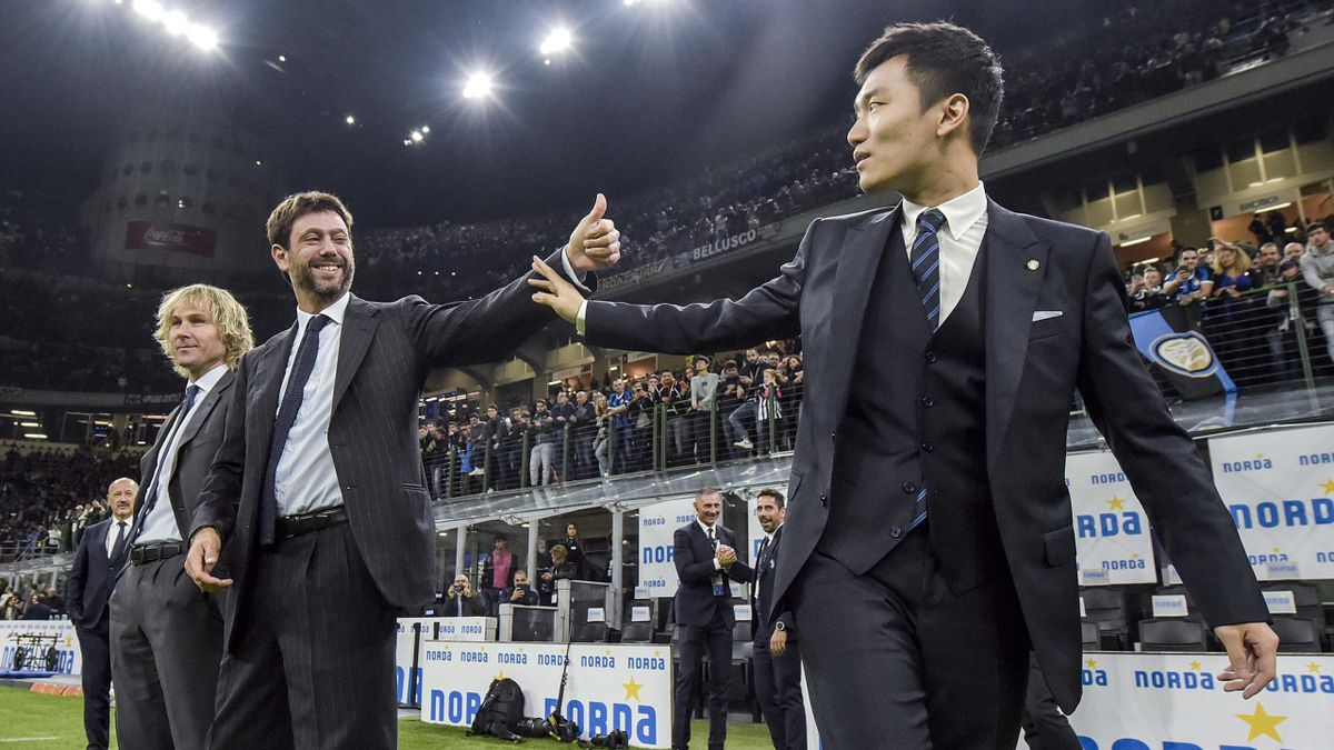 Andrea Agnelli, Steven Zhang, Getty Images