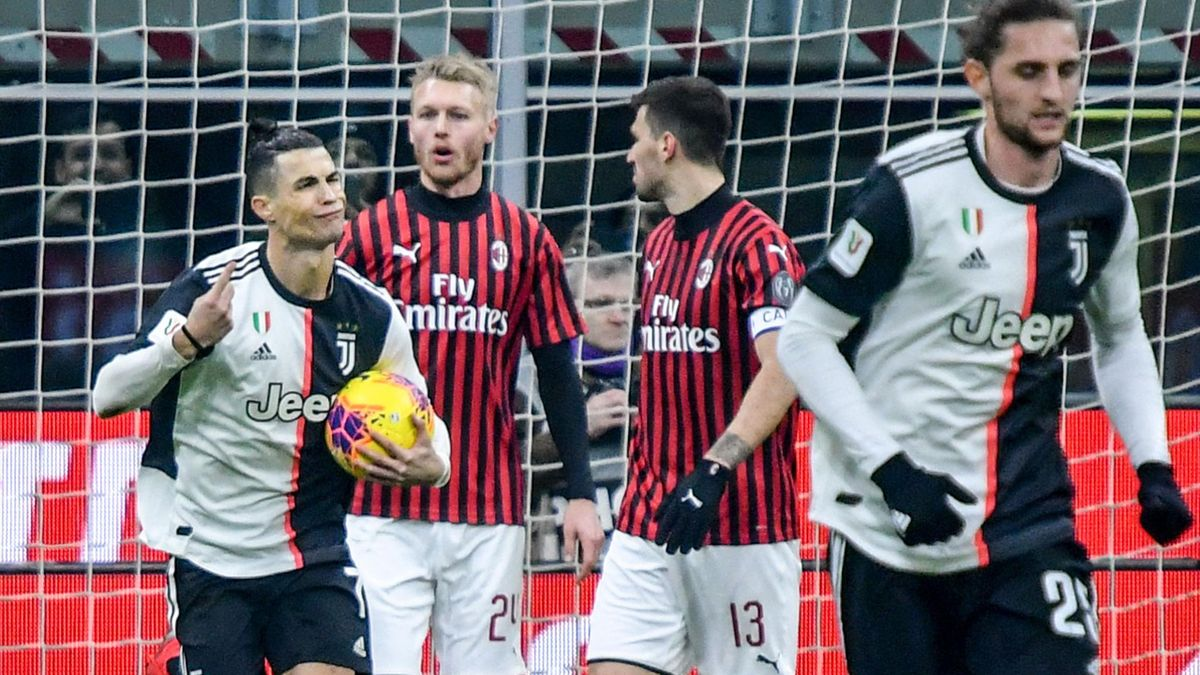Cristiano Ronaldo - Milan-Juventus - Coppa Italia 2019/2020 - Getty Images