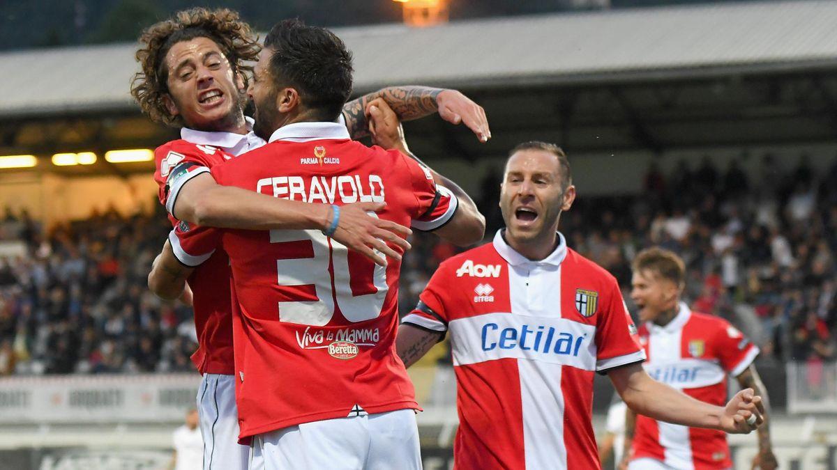 Esultanza Fabio Ceravolo, Spezia-Parma, Getty Images