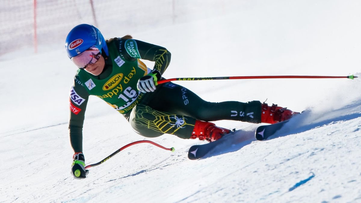 Mikaela Shiffrin of USA competes during the Audi FIS Alpine Ski World Cup Women's Downhill on January 24, 2020