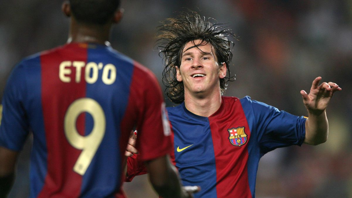 Samuel Eto'o și Lionel Messi