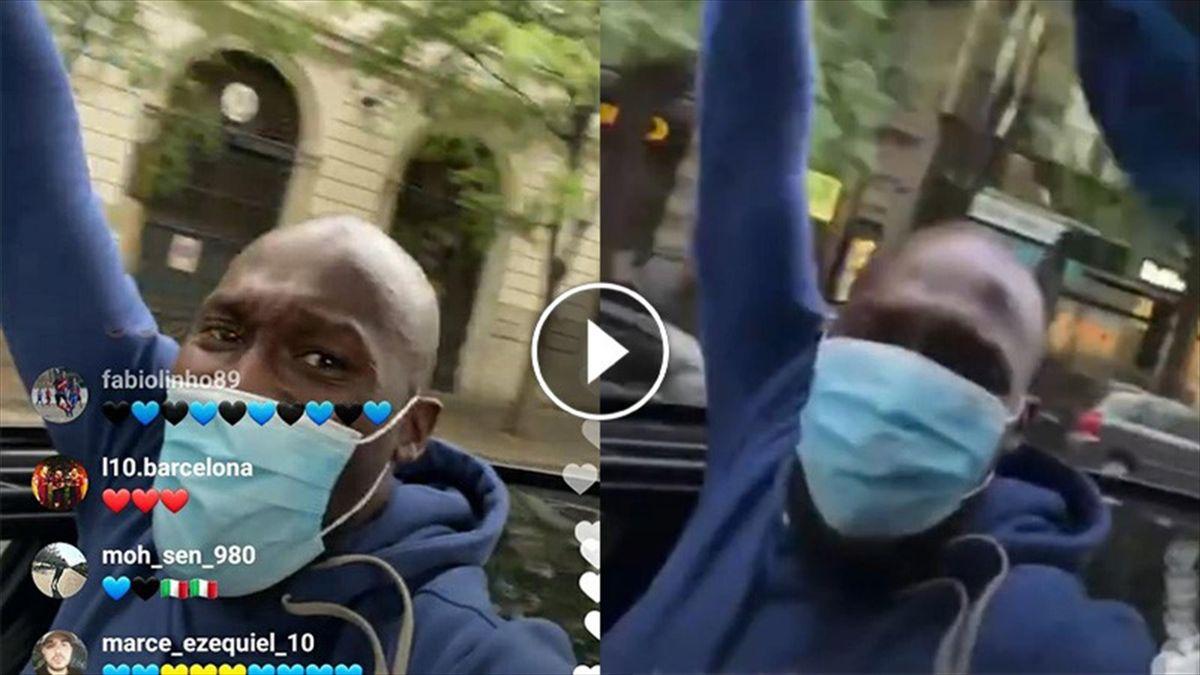 Inter, i festeggiamenti di Lukaku per le strade di Milano