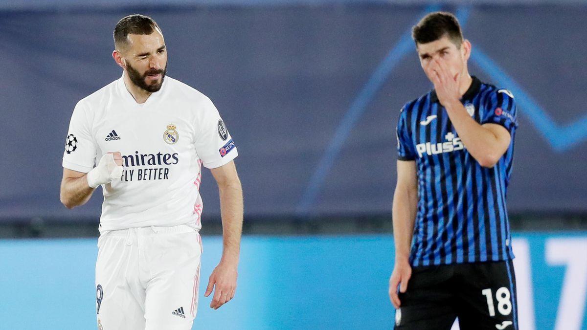 Benzema, une nouvelle fois magistral face à l'Atalanta