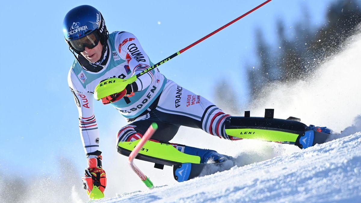 Clément Noël lors du slalom d'Adelboden le 10 janvier.