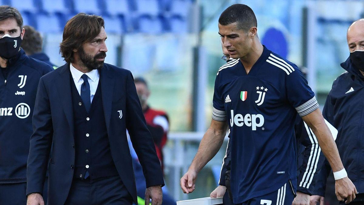 Pirlo a colloquio con Cristiano Ronaldo, Getty Images
