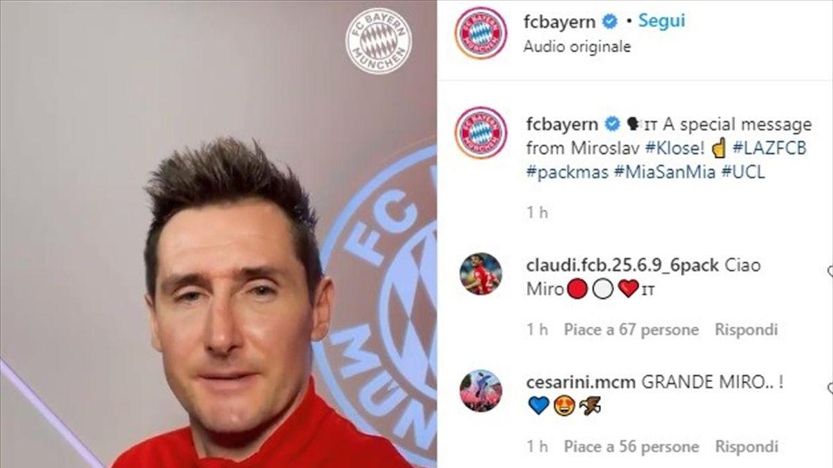 Miroslav Klose su instagram