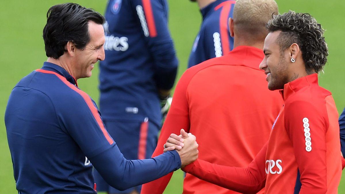 Unai Emery und Neymar von PSG