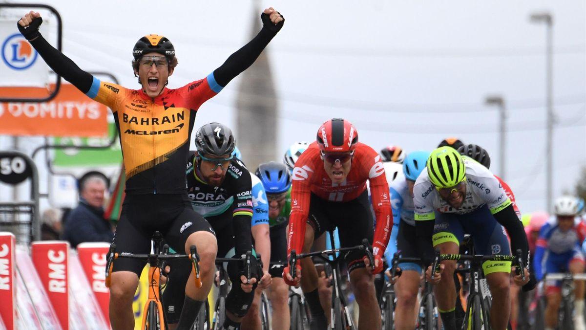 Ivan Garcia Cortina sprints to victory to win stage 3 of Paris-Nice