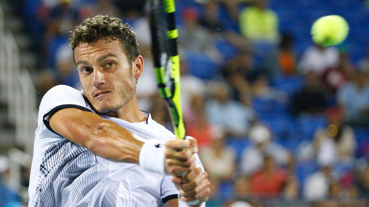 Alessandro Giannessi nel match contro Stan Wawrinka agli US Open 2016 (Getty Images)