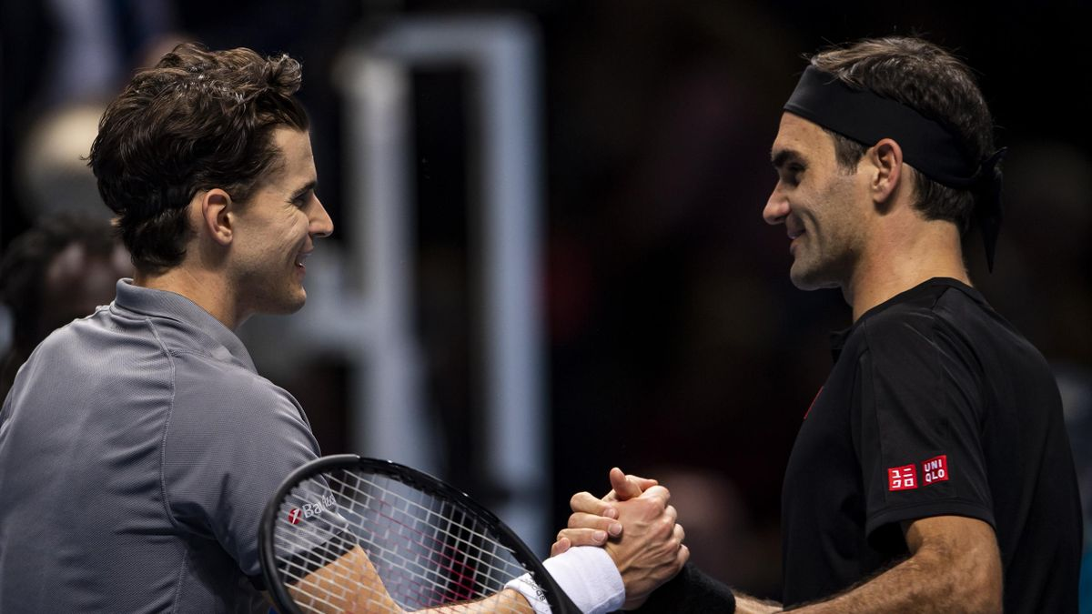 Dominic Thiem ve Roger Federer