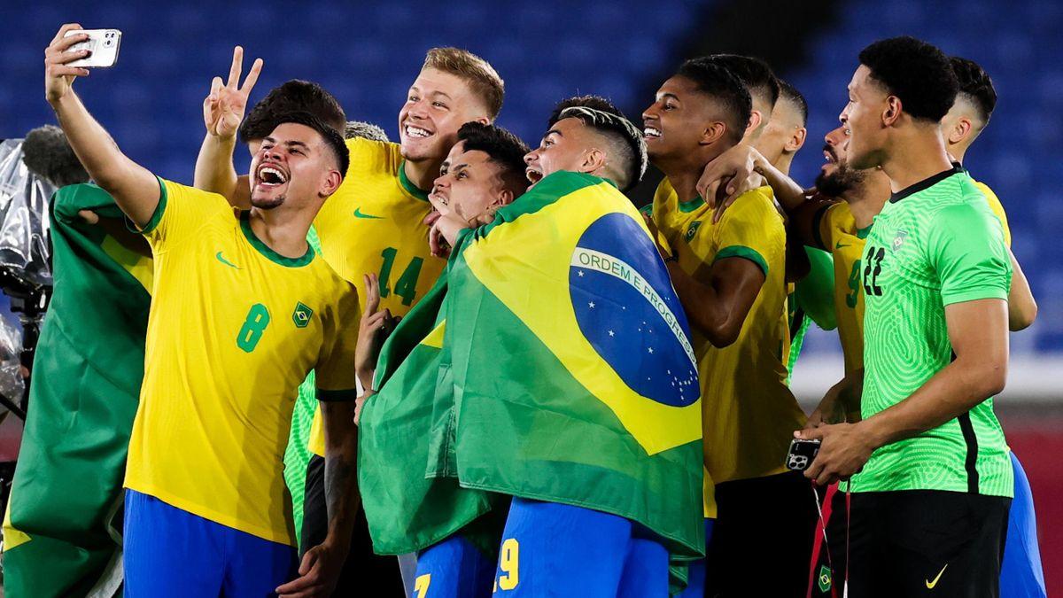 Brazilie Olympisch Kampioen Voetbal Tokyo 2020