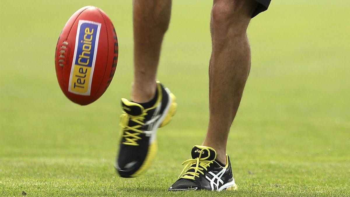A generic shot of an AFL ball (AFP)