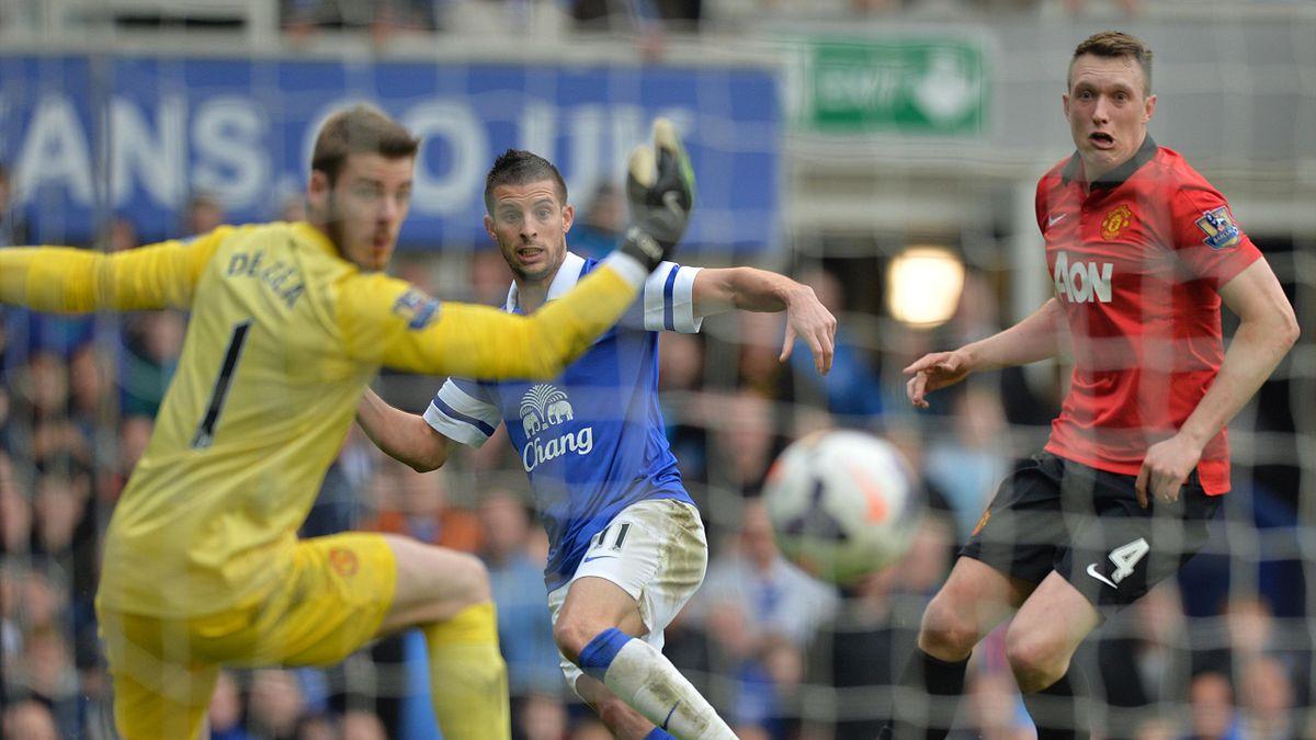 Kevin Mirallas (Everton) marque contre Manchester United - Premier League 2013/14