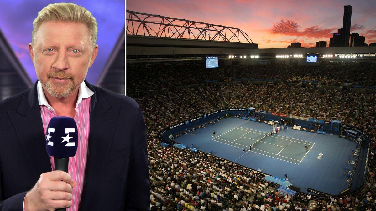 Die Australian Open bei Eurosport mit Boris Becker