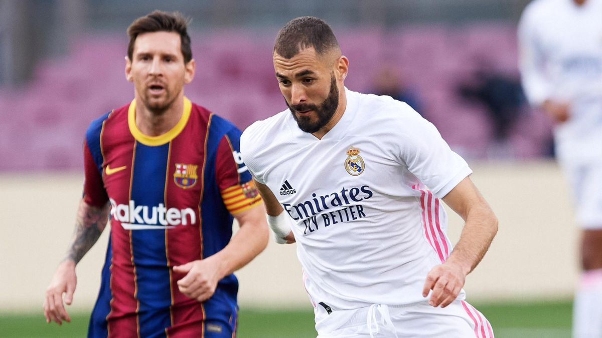Leo Messi (Barcelona) y Karim Benzema (Real Madrid)