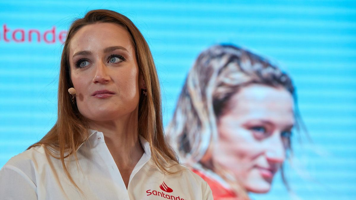 La nadadora Mireia Belmonte durante un encuentro con los medios de comunicación en el marco de Santander Talks