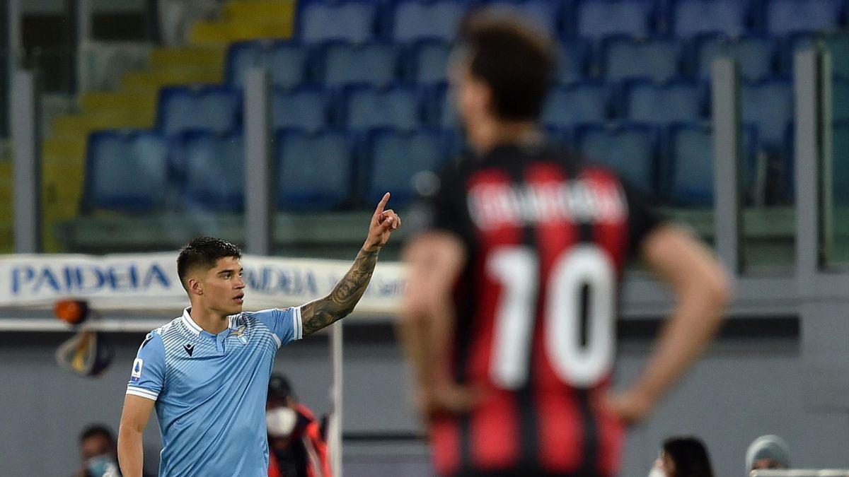 Joaquin Correa, Hakan Calhanoglu, Lazio-Milan, Getty Images