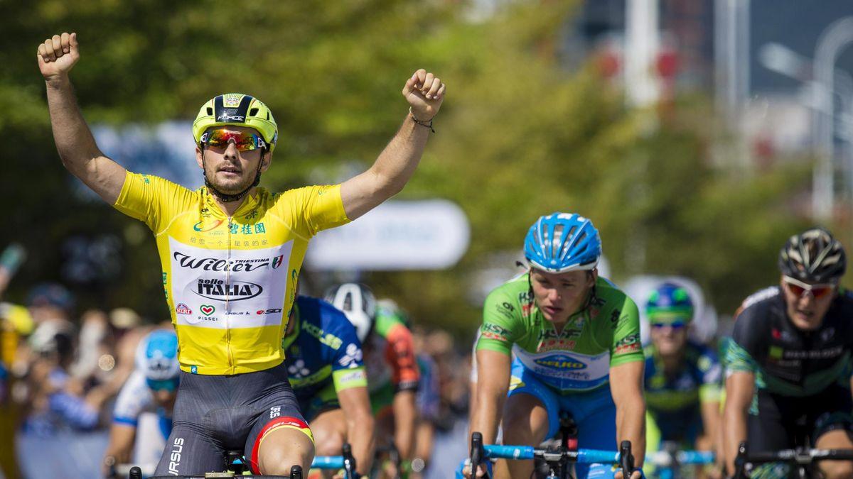 Jakub Mareczko wins his fourth straight stage (credit: Tour of Hainan)