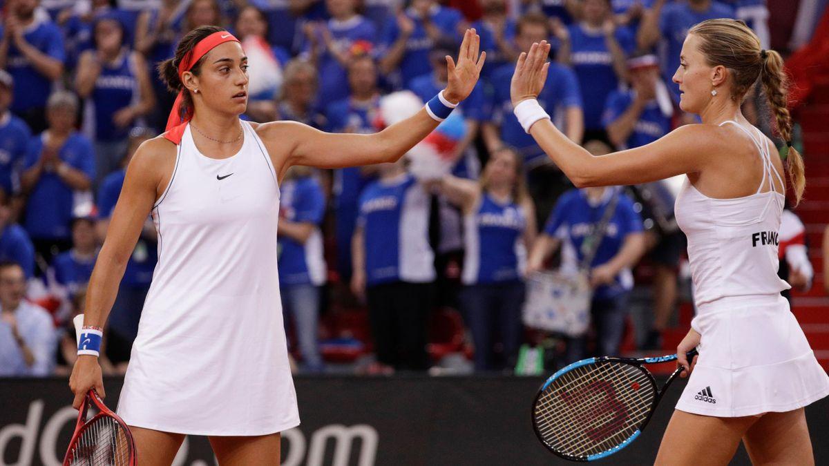 Caroline Garcia Apres Sa Victoire Decisive Avec Kristina Mladenovic On A Joue L Une Pour L Autre Eurosport