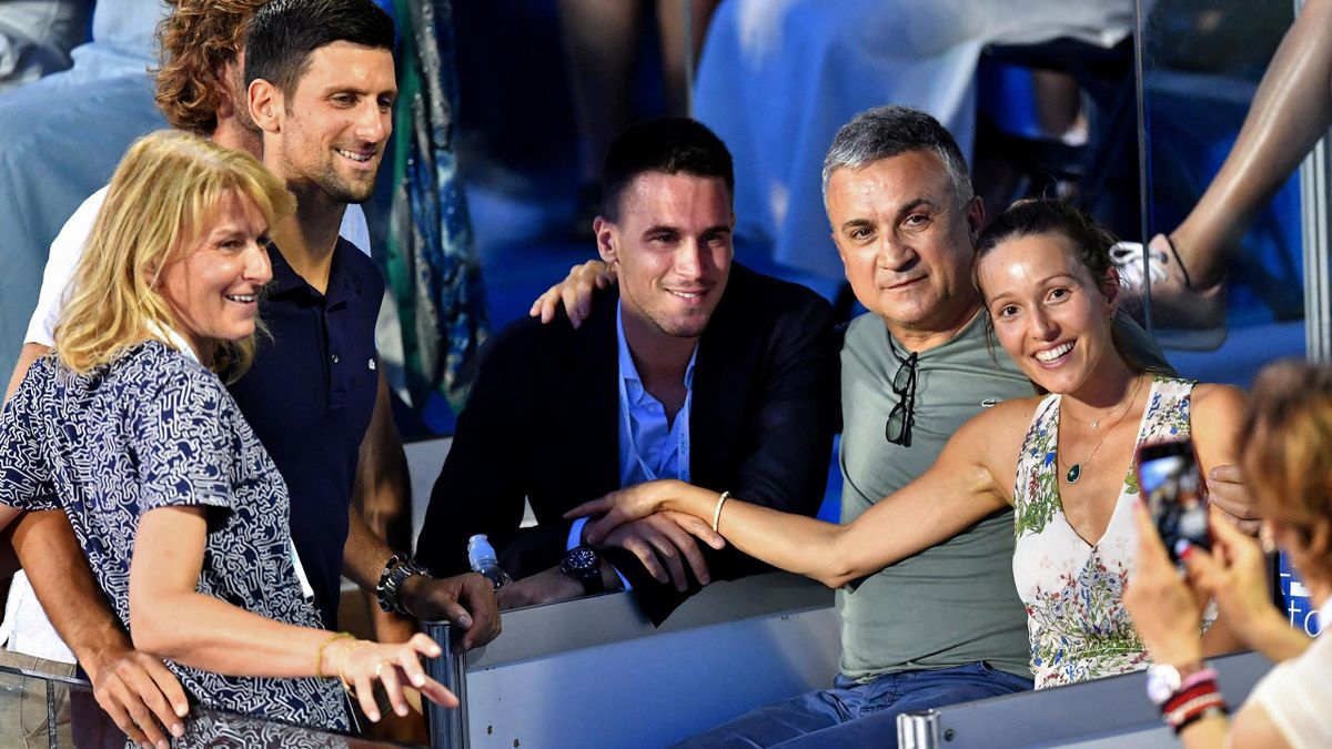 Novak Djokovic, alături de familia lui