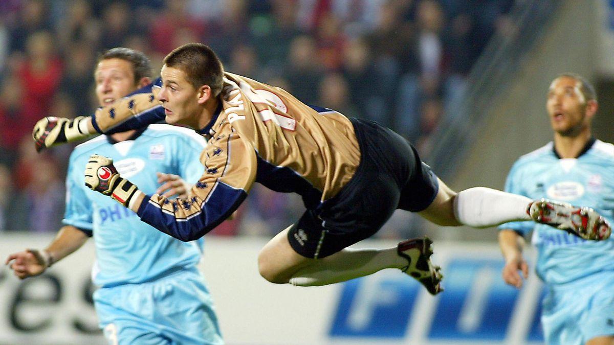 Vincent Plante (Caen) contre Rennes en Ligue 1 le 30 octobre 2004