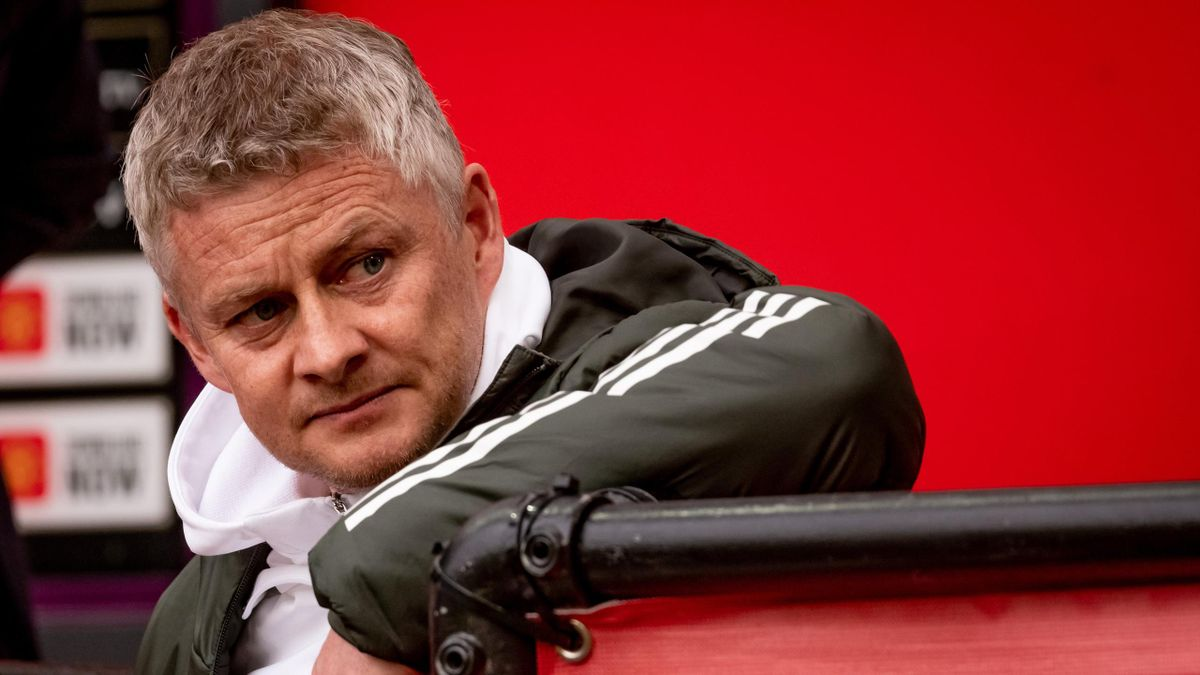 Manchester United Head Coach / Manager Ole Gunnar Solskjaer looks on prior to the Premier League match between Manchester United and Liverpool at Old Trafford on May 2, 2021 in Manchester, United Kingdom