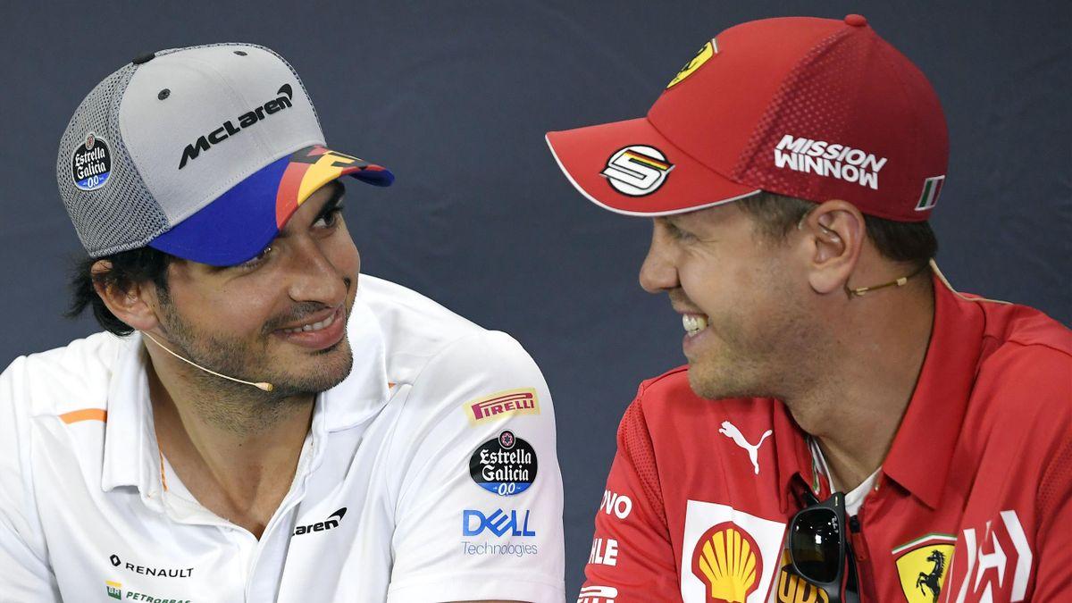 Carlos Sainz și Sebastian Vettel