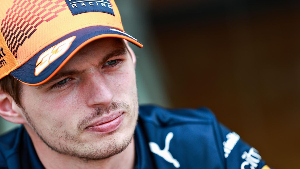 Max Verstappen of Netherlands and Red Bull Racing looks on in the Paddock during previews ahead of the F1 Grand Prix of Austria at Red Bull Ring on July 01, 2021 in Spielberg, Austria