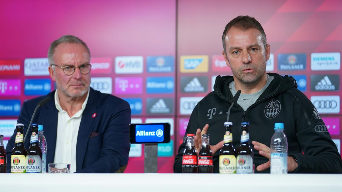 Bayern-Boss Karl-Heinz Rummenigge (links) und Trainer Hansi Flick