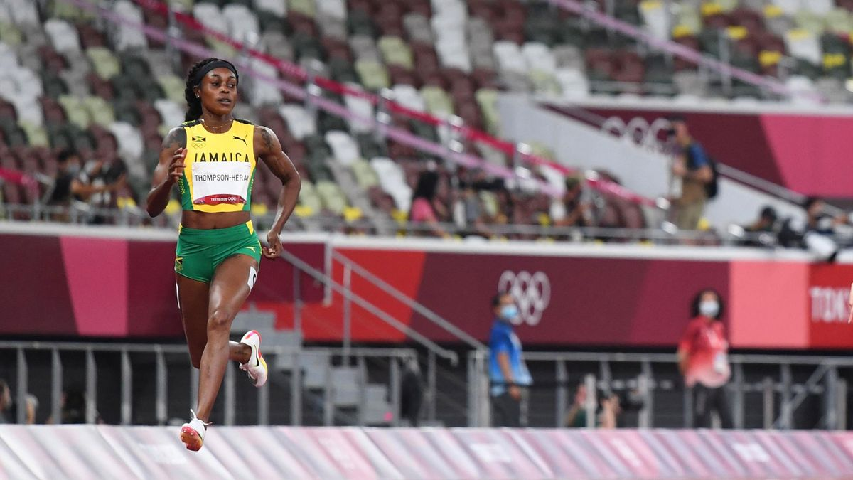 Elaine Thompson-Herah was in superb form in the 200m semis.