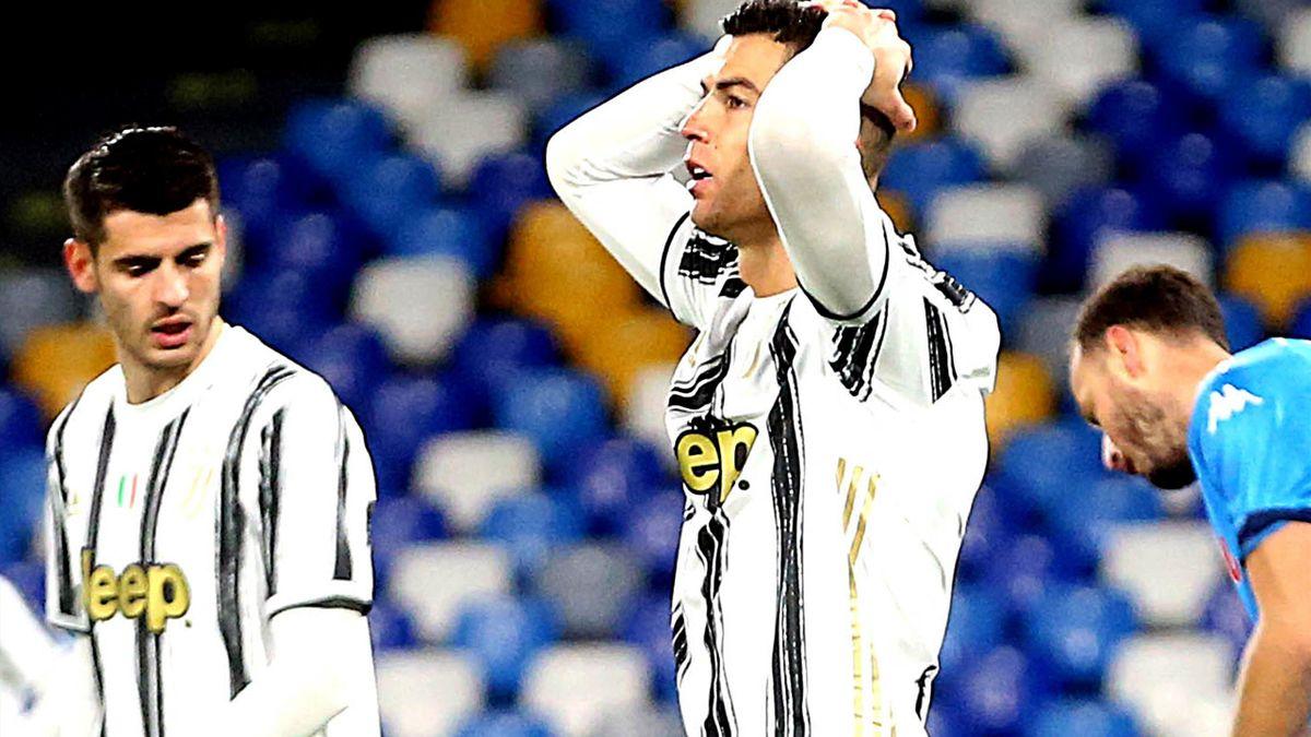 La frustrazione di Ronaldo e Morata rimasti a secco in Napoli-Juventus, Serie A 2020-21, Getty Images