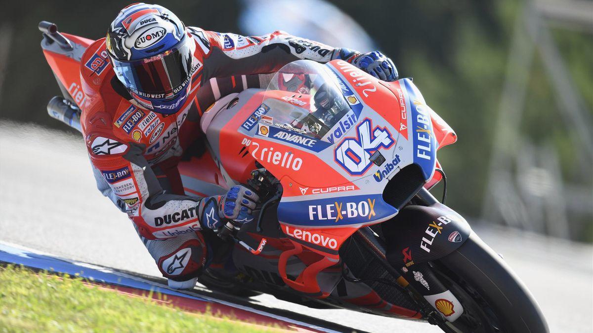 Andrea Dovizioso (Ducati) lors du GP de République tchèque
